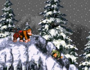Donkey Kong Snow Level